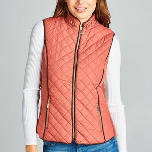 🌸NWT!Faux Shearling Lined Quilted Padding Vest